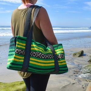 Boho Travel Bag Weekender Bag Beach Duffel Bag